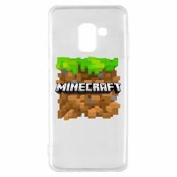 Чохол для Samsung A8 2018 Minecraft Main Logo