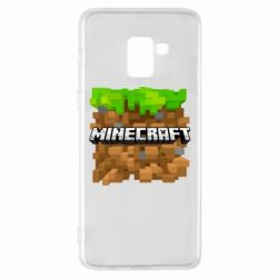 Чохол для Samsung A8+ 2018 Minecraft Main Logo