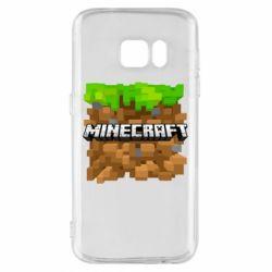 Чохол для Samsung S7 Minecraft Main Logo
