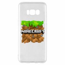 Чохол для Samsung S8 Minecraft Main Logo