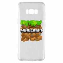 Чохол для Samsung S8+ Minecraft Main Logo