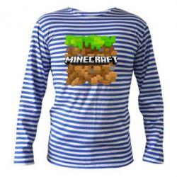 Тельняшка с длинным рукавом Minecraft Main Logo - FatLine