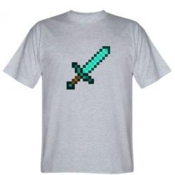 Мужская футболка Minecraft меч - FatLine