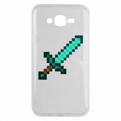 Чохол для Samsung J7 2015 Minecraft меч