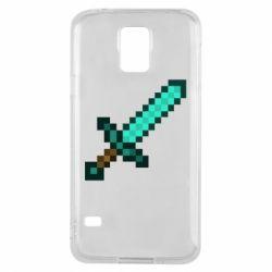Чохол для Samsung S5 Minecraft меч