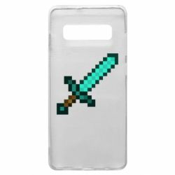 Чохол для Samsung S10+ Minecraft меч