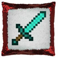 Подушка-хамелеон Minecraft меч