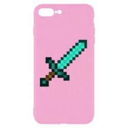 Чохол для iPhone 8 Plus Minecraft меч