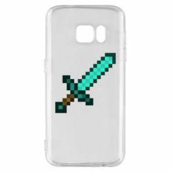 Чохол для Samsung S7 Minecraft меч