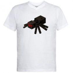 Чоловіча футболка з V-подібним вирізом Minecraft spider