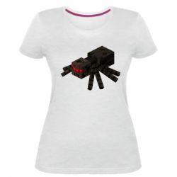 Жіноча стрейчева футболка Minecraft spider