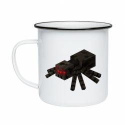 Кружка емальована Minecraft spider