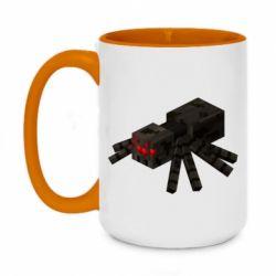 Кружка двоколірна 420ml Minecraft spider