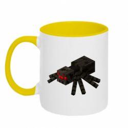 Кружка двоколірна 320ml Minecraft spider