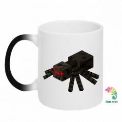 Кружка-хамелеон Minecraft spider