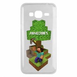 Чохол для Samsung J3 2016 Minecraft Steve