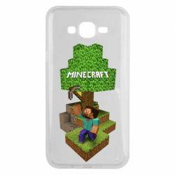 Чохол для Samsung J7 2015 Minecraft Steve