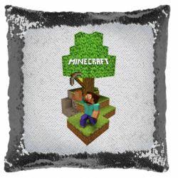 Подушка-хамелеон Minecraft Steve