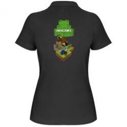Женская футболка поло Minecraft Steve
