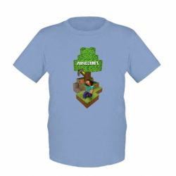 Детская футболка Minecraft Steve - FatLine