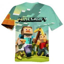 Мужская 3D футболка Minecraft1 - FatLine