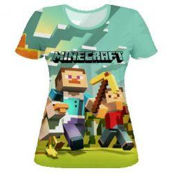 Женская 3D футболка Minecraft1 - FatLine