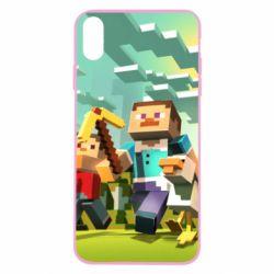 Чехол для iPhone X/Xs Minecraft1 - FatLine