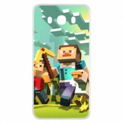 Чехол для Samsung J7 2016 Minecraft1 - FatLine