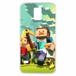 Чехол для Samsung S5 Minecraft1 - FatLine