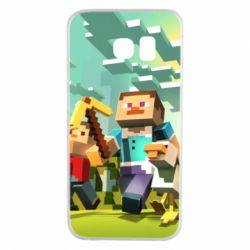 Чехол для Samsung S6 EDGE Minecraft1 - FatLine