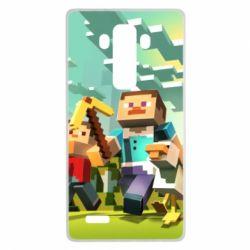 Чехол для LG G4 Minecraft1 - FatLine
