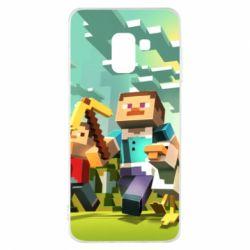 Чехол для Samsung A8 2018 Minecraft1 - FatLine