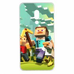 Чехол для Meizu 15 Plus Minecraft1 - FatLine