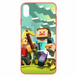 Чехол для iPhone Xs Max Minecraft1 - FatLine