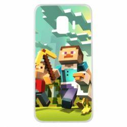 Чехол для Samsung J2 Core Minecraft1 - FatLine