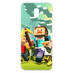 Чехол для Samsung J6 Plus 2018 Minecraft1 - FatLine
