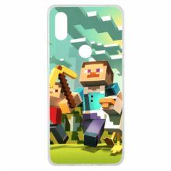 Чехол для Xiaomi Mi Mix 3 Minecraft1 - FatLine