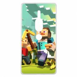 Чехол для Sony Xperia XZ2 Premium Minecraft1 - FatLine