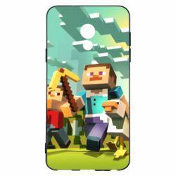 Чехол для Meizu 15 Lite Minecraft1 - FatLine
