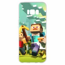Чехол для Samsung S8+ Minecraft1 - FatLine