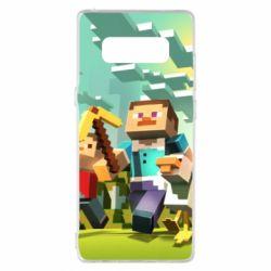 Чехол для Samsung Note 8 Minecraft1 - FatLine