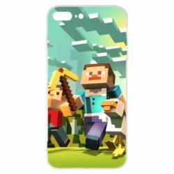 Чехол для iPhone 8 Plus Minecraft1 - FatLine
