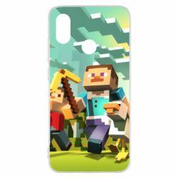 Чехол для Xiaomi Mi8 Minecraft1 - FatLine