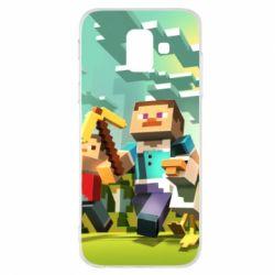 Чехол для Samsung A6 2018 Minecraft1 - FatLine