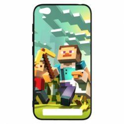 Чехол для Xiaomi Redmi 5a Minecraft1 - FatLine