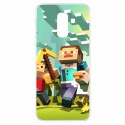 Чехол для Samsung A6+ 2018 Minecraft1 - FatLine