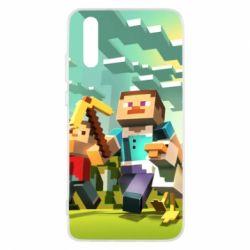 Чехол для Huawei P20 Minecraft1 - FatLine