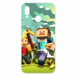 Чехол для Huawei P20 Lite Minecraft1 - FatLine