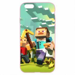 Чехол для iPhone 6 Plus/6S Plus Minecraft1 - FatLine