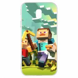 Чехол для Samsung J3 2017 Minecraft1 - FatLine